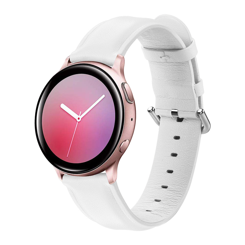 Leather Watch Strap for Sumsung Galaxy Watch Active/Active 2 White L code