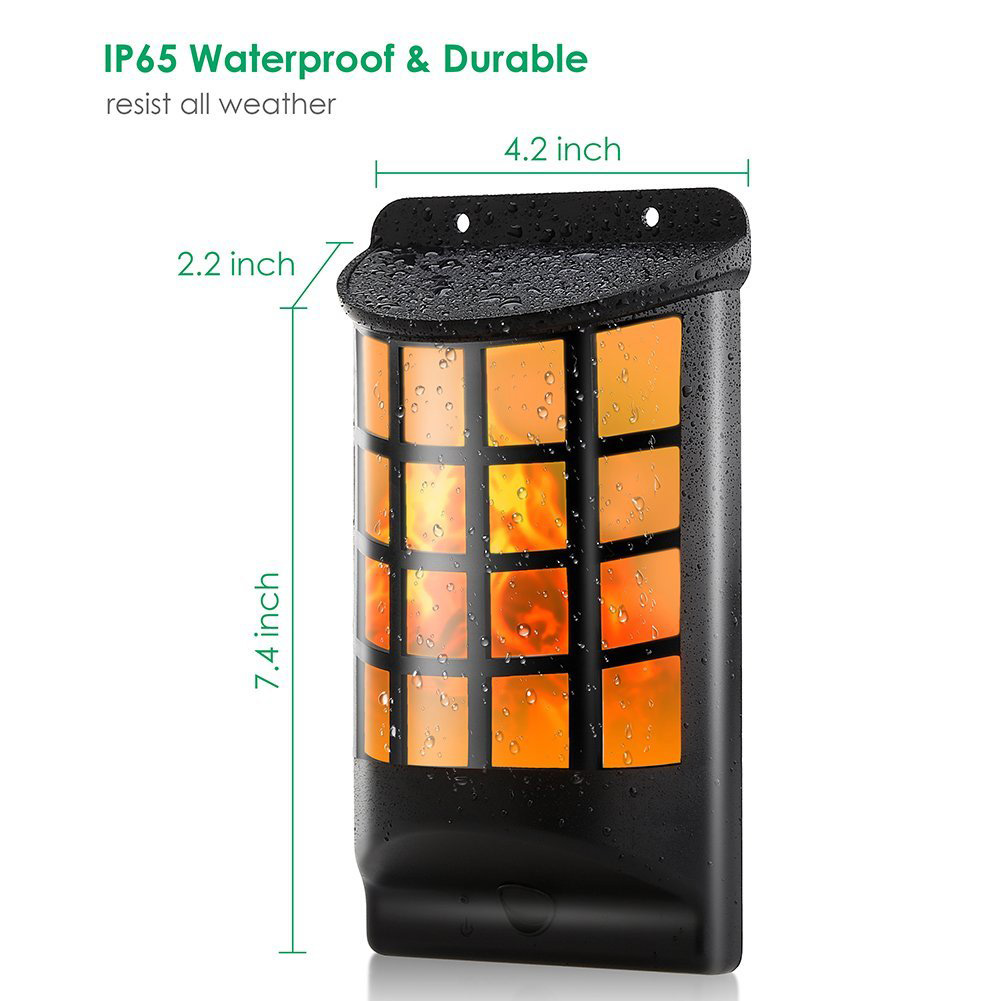 Fashionable Waterproof Solar Energy LED Mesh Wall Lamps Half Round Torch Lamp Wall Lighting