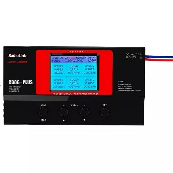 Radiolink CB86 Plus Balance Charger for RC 8 pcs 2-6S Lipo Battery at One Time MODEL BULIDING KITS as shown