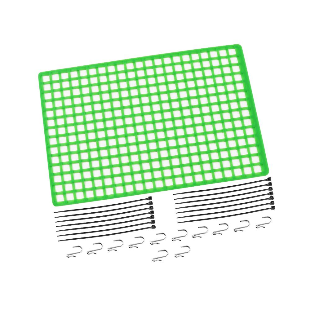 1pc Window Net Rubber Luggage Net Window Decoration for 1/10 RC Car SCX10 90046 Wraith D90 TRX4 Green