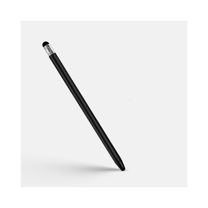 2 in 1 Stylus Pen Capacitive Screen Touch Pencil Drawing Pen for Tablet Android Smartphone black