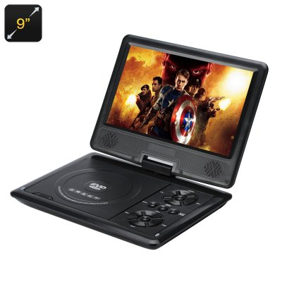 9 Inch Portable Region Free DVD Player