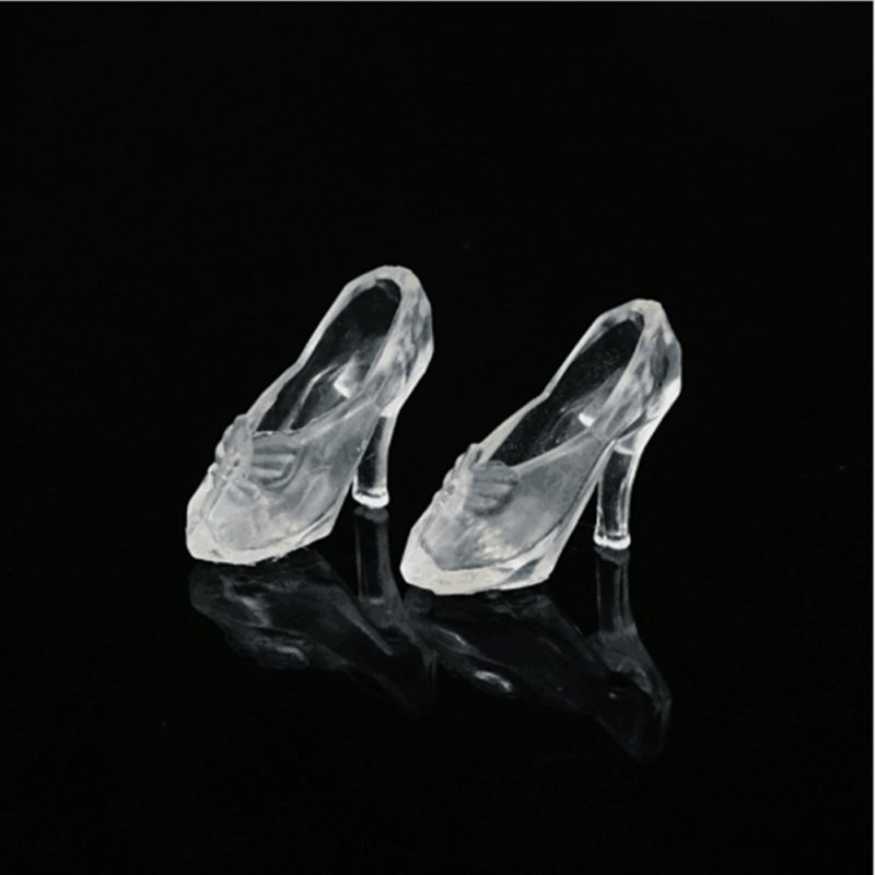 [EU Direct] 12Pairs Fashion Cute Princess High Heel Pumps Fairy Tales Shoes dolls