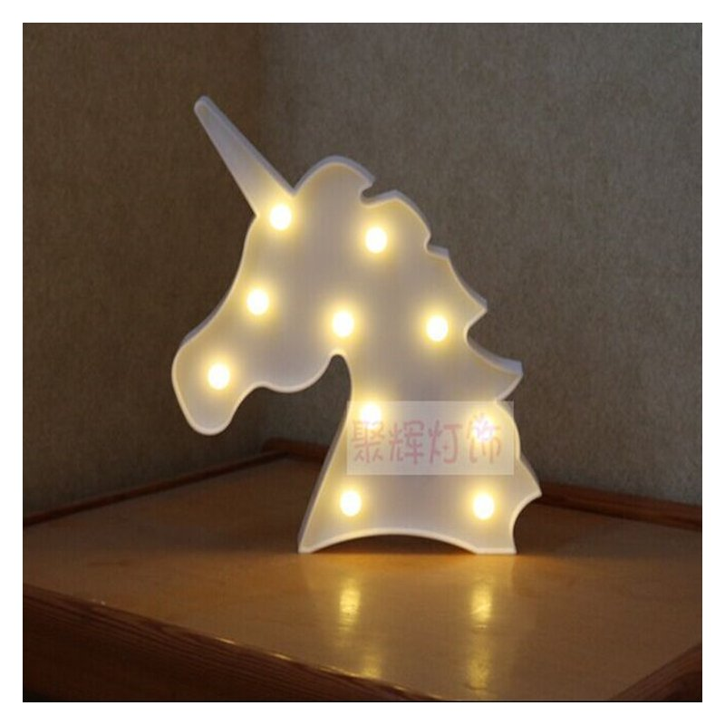 [EU Direct] 3D LED Night Light Romantic Desk Table Night Light Star Beast Head Decorative Lamp For Bedroom Kids Children Room Office Holiday Gift Cool white