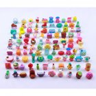 EU Direct  50Pcs Random Cartoon Character Doll of Fruit Family Action Figure Doll for Pretend Play