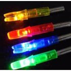 EU Direct  6 Pcs  Pack LED Lighted Arrow Nocks Built in Battery Illuminated Archery Nocks Random Color