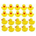 EU Direct  DSstyle 20pcs Yellow Duck for Baby Bath Tub Bathing Rubber Squeaky Toys