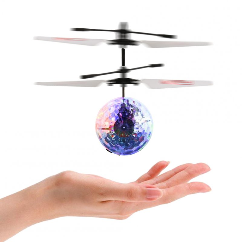 [EU Direct] Flying Balls for Kids Hand Induced Flight, RC Transparent Flying Ball Drone Helicopter for Kids/Teenager with Remote Controller
