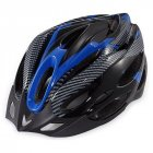 EU Direct  Generic Cycling Bicycle Adult Bike Safe Helmet Carbon Hat With Visor 19 Holes Blue black blue