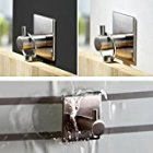 EU Direct  Lingstar SUS 304 Stainless Steel 3M Self Adhesive Bathroom Kitchen Towel Hanger Rack Wall Mount Brushed Finish  1 Hook