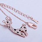 EU Direct  MR TIE 18K Rose Gold Plated Cute Animal Pendant Neck Chain Necklace Valentine s Day Gift