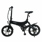 EU Direct  ONEBOT S6 Electric Bike Foldable Bicycle Variable Speed City E bike 250W Motor 6 4Ah Battery Max 25Km h Max Load 120kg black