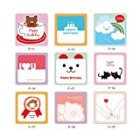EU Direct  ONOR Tech Pack of 18 Sweet Cute Lovely Greeting Birthday Mini Cards with Envelope for Wedding  Birthday Party