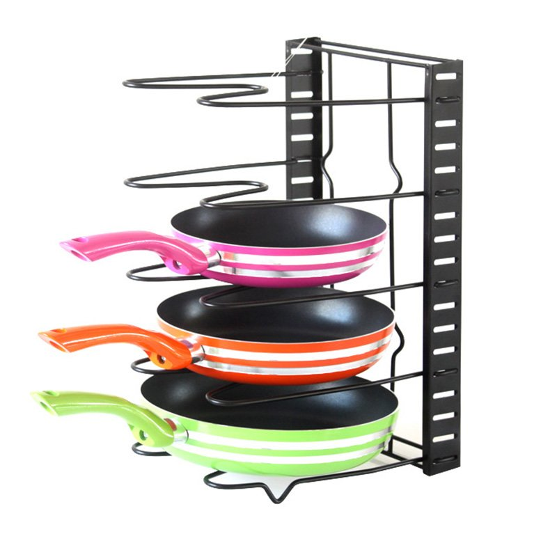 [EU Direct] Originality Kitchen Supplies Multifunctional Foldable Storage Rack for Pot Cover Pan Chopping Board