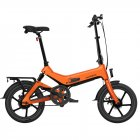 [EU Direct] SAMEBIKE G7186 Electric Bicycle Foldable Bike Variable Speed City E-bike 250W Motor 16inch Wheels 7.5Ah Battery Max 25Km/h  orange