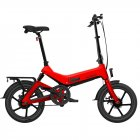 [EU Direct] SAMEBIKE G7186 Electric Bicycle Foldable Bike Variable Speed City E-bike 250W Motor 16inch Wheels 7.5Ah Battery Max 25Km/h  red