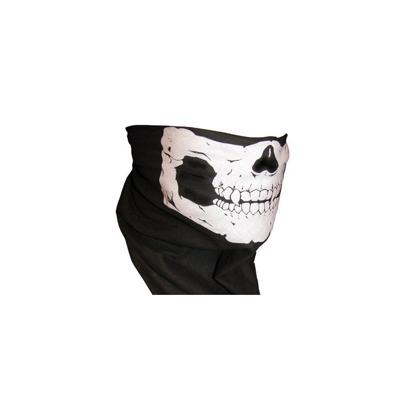 [EU Direct] Skull Tube Face Mask Motorcycle Tubular Skeleton Biker Snowboard Neck Gaiter Stretchable Wind Bugs Dust Shield Snowmobile
