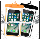 [EU Direct] Waterproof Case, 2 Pack Universal Cell Phone Waterproof Dry Bag Pouch Transparent Snowproof Dustproof for iPhone,Samsung Galaxy And Other Smartphones up to 6 Inches(Black + Orange)