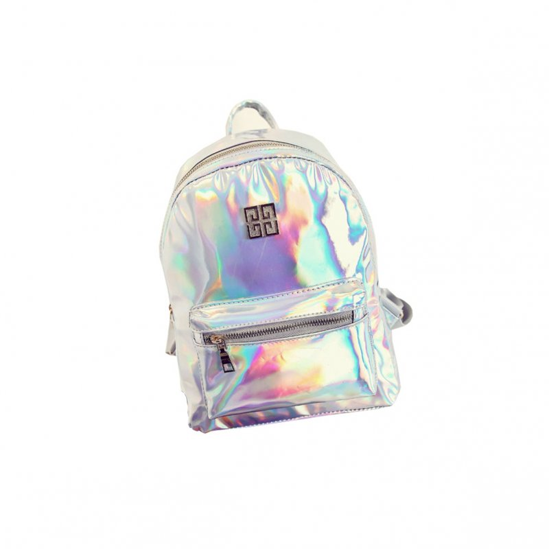 [EU Direct] Women Fashion NewGirl Hologram Holographic Laser PVC School Backpack Bag