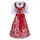 EU Direct  Women s Classic Dirndl Sexy Lace Apron Floral Dress 3PCS Suit for Beer Festival