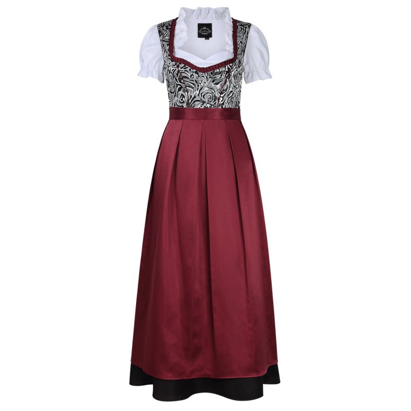 [EU Direct] Women's German Traditional Oktoberfest Costumes Classic Dress Three Pieces Suit