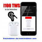[EU Direct] i100 TWS Air Smart Sensor 1:1 Pods Bluetooth Wireless Earphone Separate Use Bass Earphones