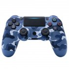 For PS4/Slim Controller Bluetooth 4.0 Mobile Gamepad with Light Bar Blue camouflage