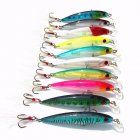 [Indonesia Direct] 10Pcs Minnow Fishing Lures Set 9cm 8g Artificial Hard Bait with Feather Dual Fishhook Swimbait