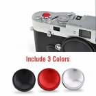 [Indonesia Direct] 3pcs/set Aluminium Alloy Camera Shutter Release Button for X100 X10 XPRO1 XE1 Black/red/silver 3PCS