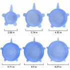 [Indonesia Direct] 6Pcs Kitchen Reusable Silicone Stretch Seal Lid Preservation Vacuum Food Storage Bowl Cover