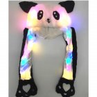 [Indonesia Direct] Lighting Lovely Cartoon Jumping Animal Ears Soft Plush Hat Air Bladder Cap Panda 1