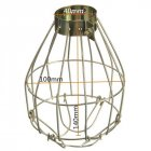[Indonesia Direct] Metal Lamp Bulb Guard Clamp Vintage Light Cage Hanging Industrial Lamp Covers Pendant Decor for Home Bar