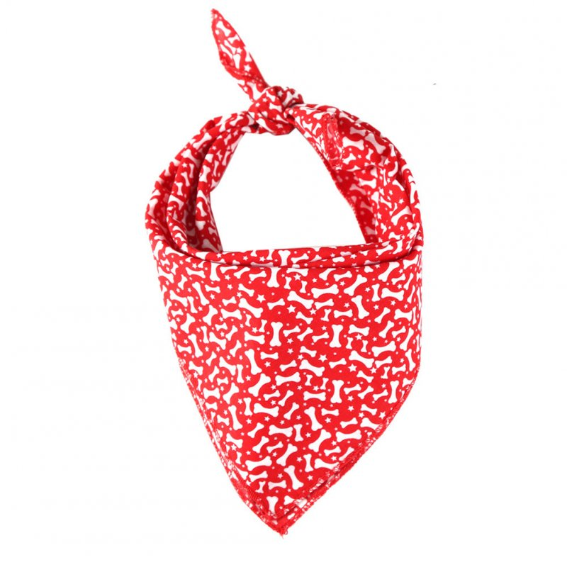 Pet Dog Saliva Towel American Flag Cat Dog Printing Bibs Scarf Collar  Red dog bone