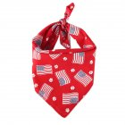 Pet Dog Saliva Towel American Flag Cat Dog Printing Bibs Scarf Collar  Red flag