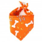 Pet Dog Saliva Towel American Flag Cat Dog Printing Bibs Scarf Collar  Orange Dog Bones