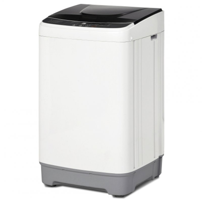 [US Direct] Automatic  Washing  Machine 12 Lbs Load Capacity Portable Washer With 10 Washing Programs white