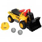 [US Direct] Bulldozer Car Toy Construction Truck Front Loader Truck Kids Toy With Simulate Stone Cap yellow