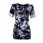 US Direct  Ladies round neck solid color loose T shirt  tie dye  blue XL Leadingstar tag