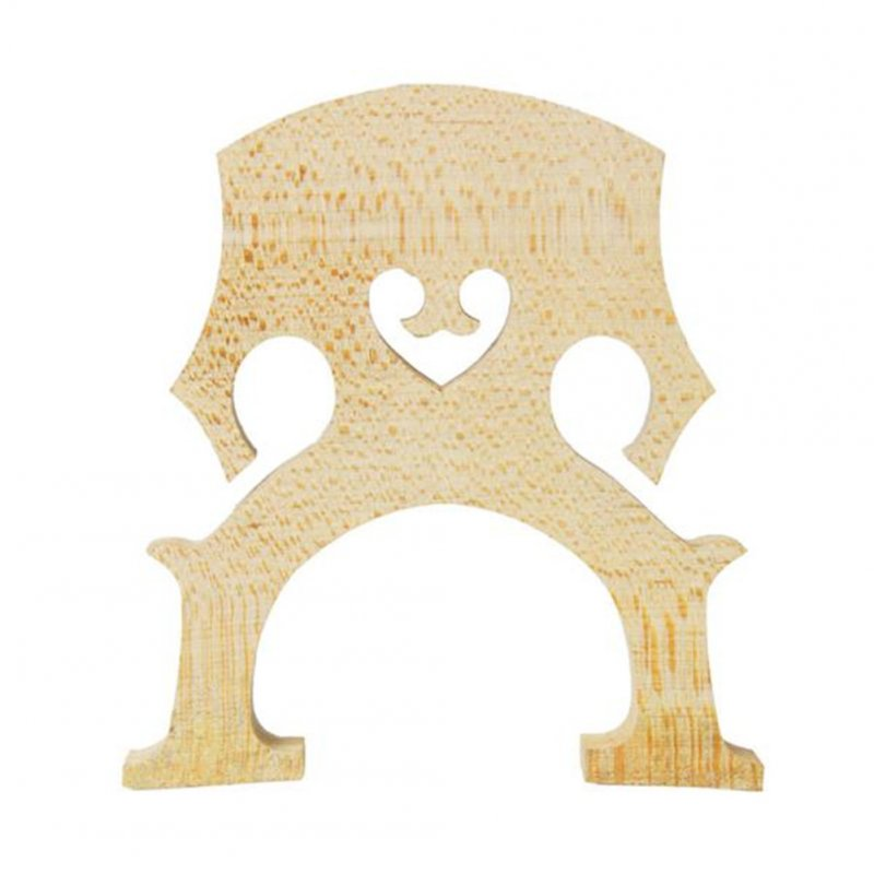 [US Direct] Maple Violoncello Bridge Cello Parts Size 4/4 Exqusite Manual Art Cello Accessories Wood color