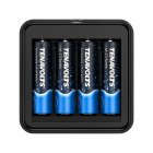 [US Direct] Original TENAVOLTS AA Rechargeable Lithium/Li-ion Batteries, Pre-charged, includes USB Charger (4 Pack) Black/BLUE