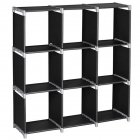 [US Direct] Storage  Cube Organizer 3 Tier 9 Cube Closet Storage Cabinet Book Shelf Shelving For Bedroom Living Room Office black