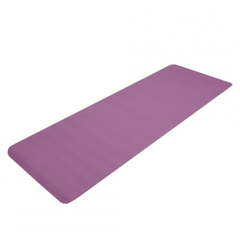 [US Direct] Tpe Yoga  Mat 183*61*6cm Non-slip Gym Pad For Yoga Training Fitness Excercise Dark purple