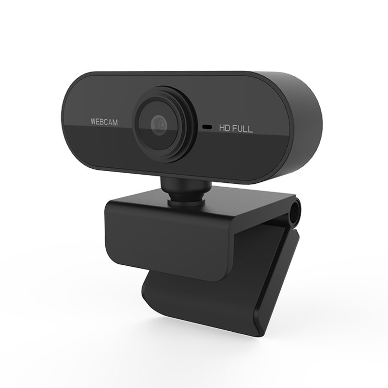 [US Direct] Webcam 1080P HDWeb Camera with Built-in HD Microphone 1920 x 1080p Web Cam black