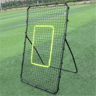 [US Direct] XY-RB002 Baseball Training Rebound  Goal 140×90×80CM With Galvanized Steel  Pipe  Φ19*0.6mm+PE Net black