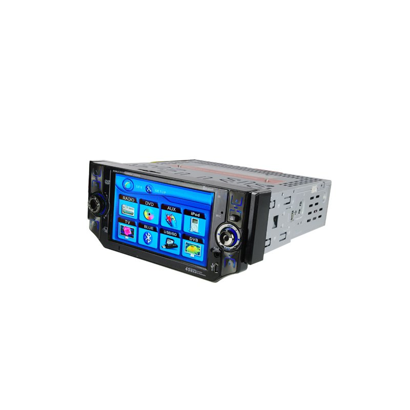 1-DIN Car DVD Bluetooth Media Center with 5 Inch Touchscreen