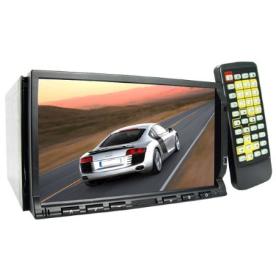 2-DIN Car Media Player + GPS + Bluetooth with 7 Inch Touchscreen