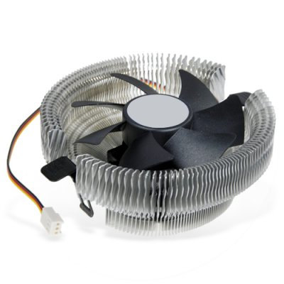 AMD and Intel CPU Cooler - Fan plus Aluminum Heatsink