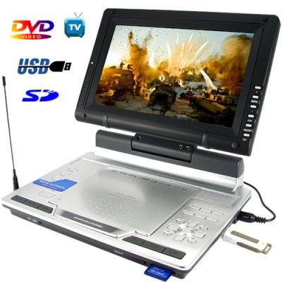 Portable Multimedia DVD Player with 9 Inch LCD (16:9)