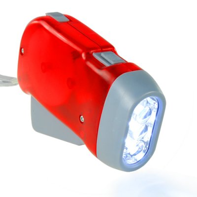 LED Flashlight - Environmental 3-LED Torch Light (Red)