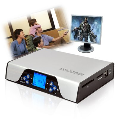 SATA Multimedia Player and HDD Enclosure (Up to 1080I)